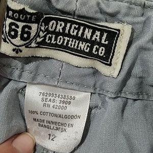 Route 66 Bottoms - Route 66 Boys 12 gray cargo shorts